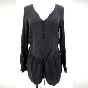 David Lerner Silk Romper